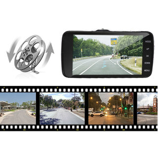 Dash Cam Dual Camera Reversing Recorder Car DVR Video 170° FHD 1296P 4.0 LCD