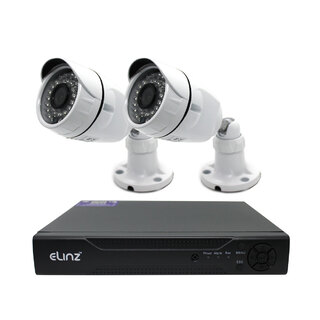 4CH CCTV Security 2x Camera System 1080P 5MP DVR AHD Face Detection Video