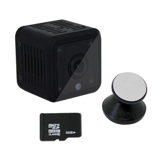 Elinz Mini Spy Security Hidden WiFi Camera 1080P CCTV Built-in Battery Night Vision 32GB