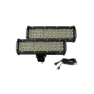 "Elinz 2x 10"" LED Work Driving Light Bar Philips 3 Rows Spot Offroad 12V 24V Truck 4WD"