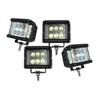 4x 60W LED Driving WorkLight CREE Flood Spot Beam 12V 24V Lamp Light 4x4 Offroad