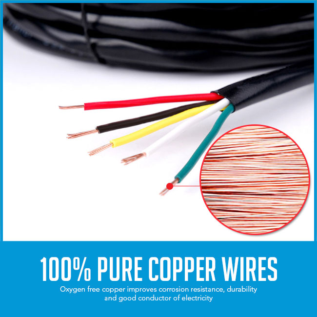 trailer cable pure copper wires