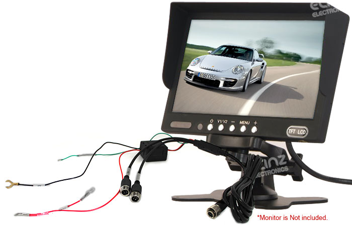 M7S reverse camera monitor power cord