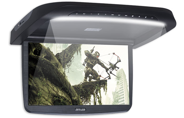 Built-in LED Lights Roof Mount DVD Player