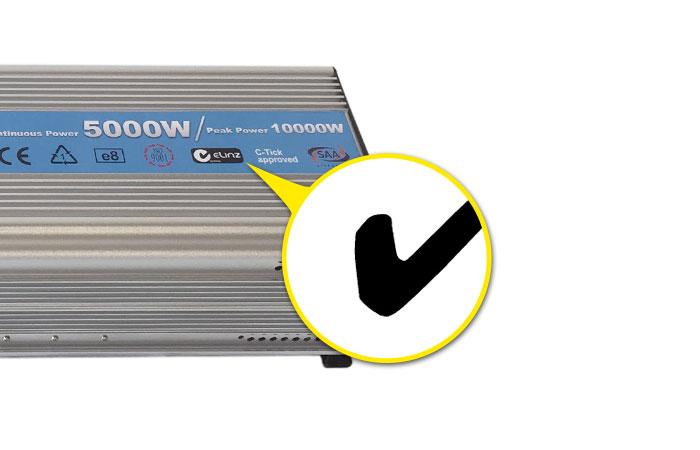 C-Tick mark Power inverter