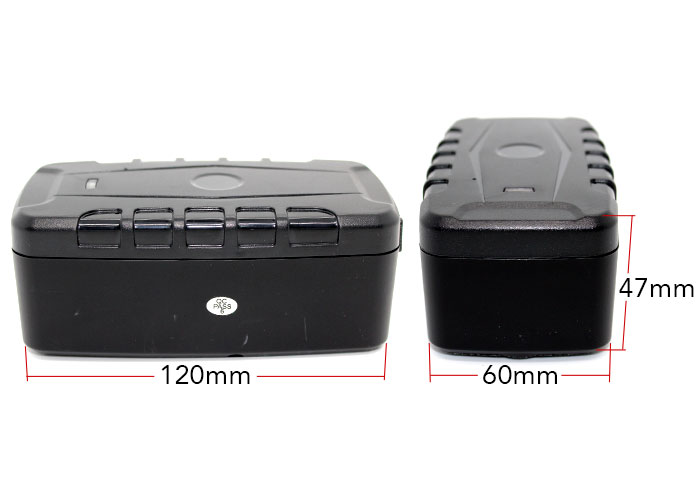3G GPS tracking device dimensions, 140mm tall, 60mm wide, 40mm thick