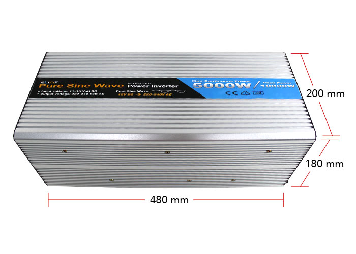 5000W Pure Sine Wave Inverter Dimensions