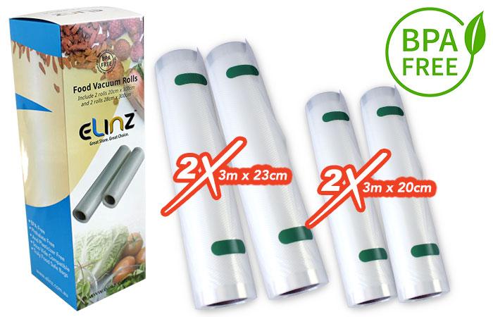 4x Extra Bag Rolls Food Storage