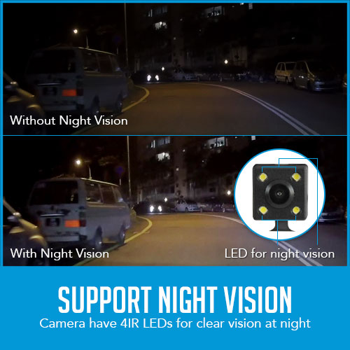 reversing camera with night vision capture