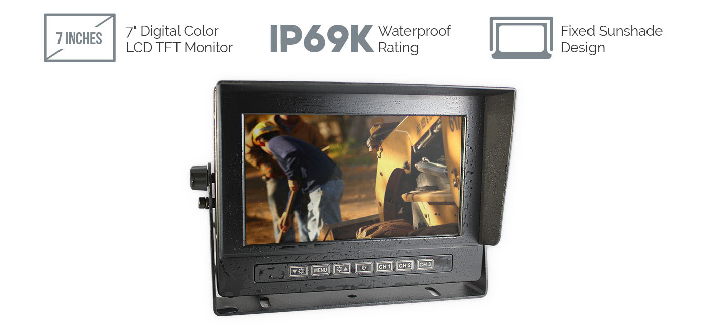 Waterproof 7 inch LCD Monitor