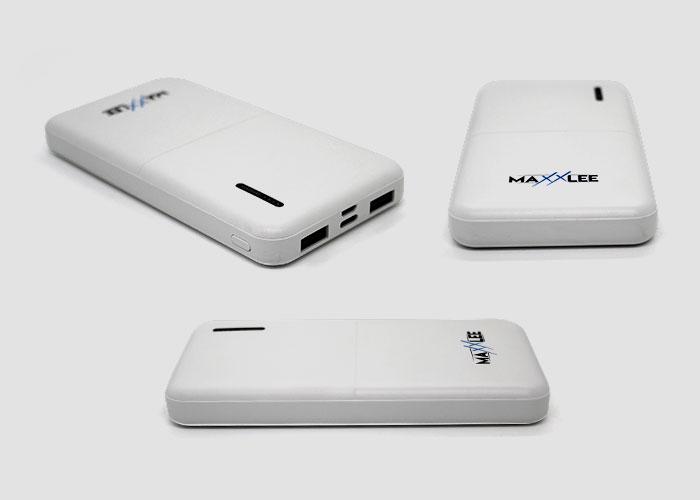 White Slim 10000mAh Power Bank Product Views