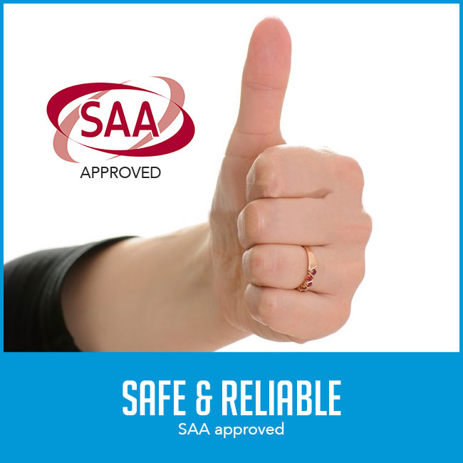 """thumbs up with caption """"SAA approved"""""""