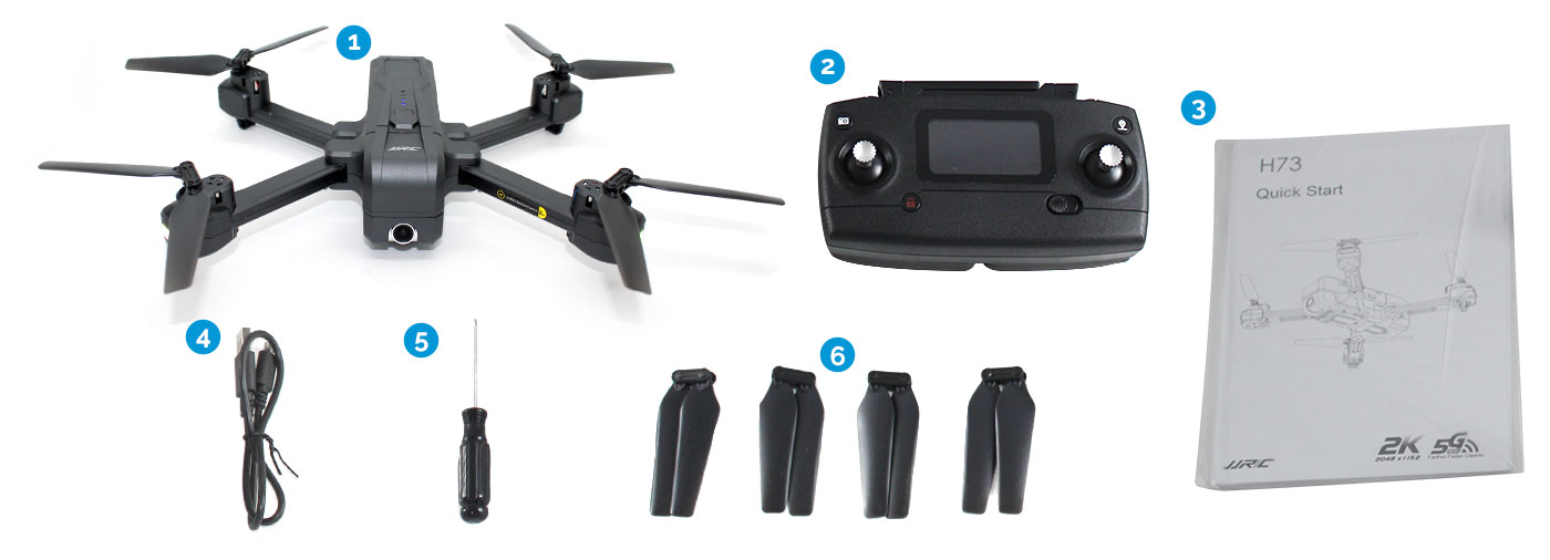 JJRC H73 RC Foldable Drone Package