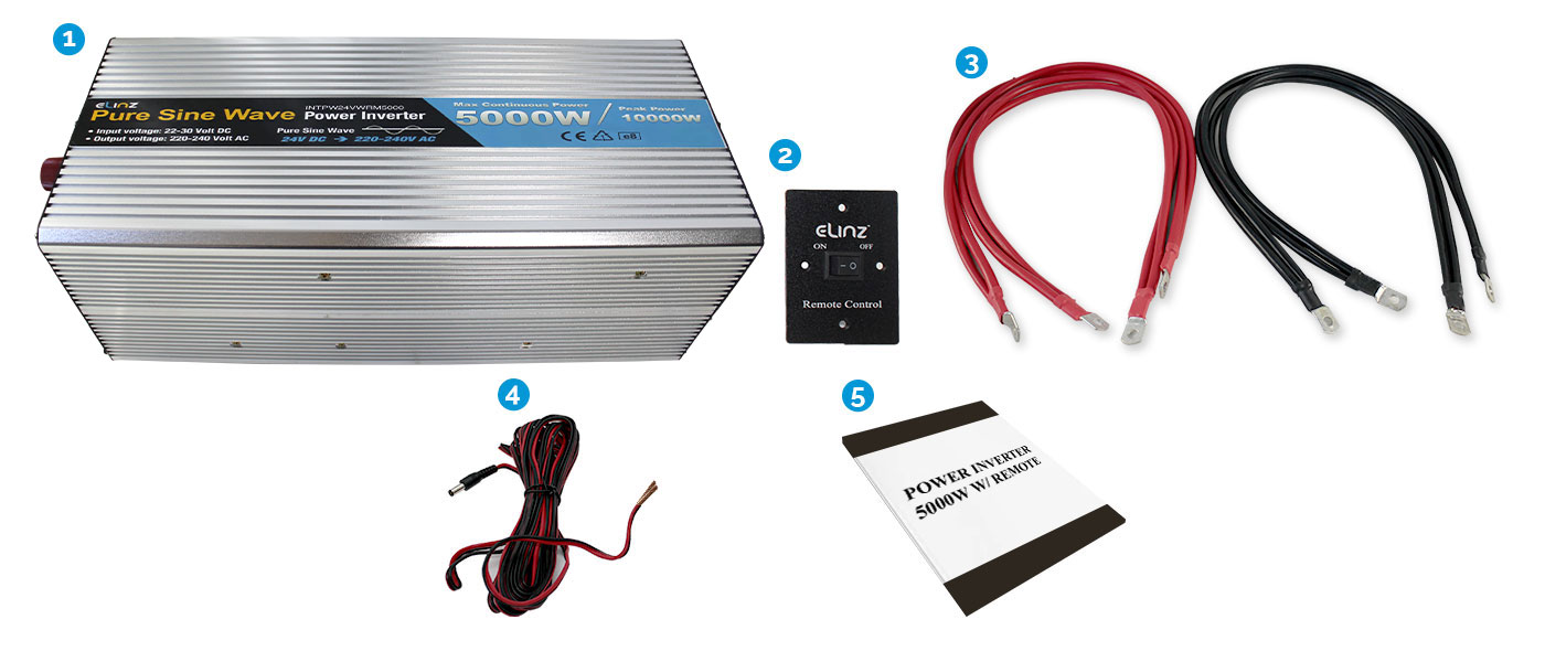 5000W Pure Sine Wave Inverter with Remote