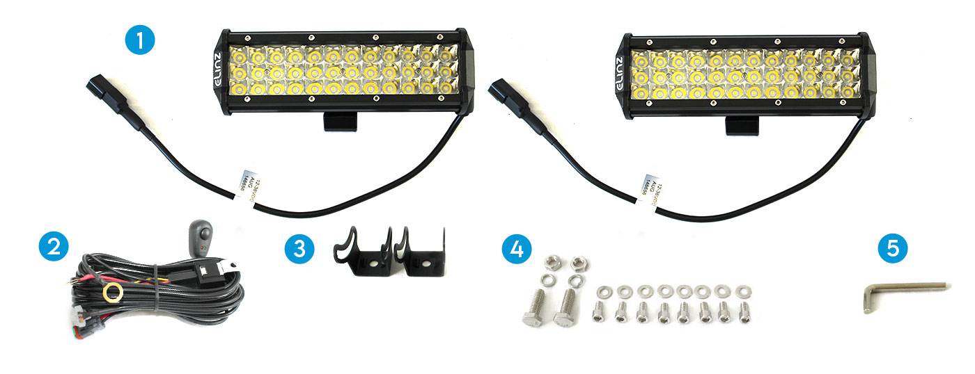 """10"""" 3 Rows LED Light Bar with Mounting Bracket"""