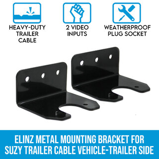 Elinz Metal Mounting Bracket for Suzy Trailer Cable Vehicle-Trailer Side