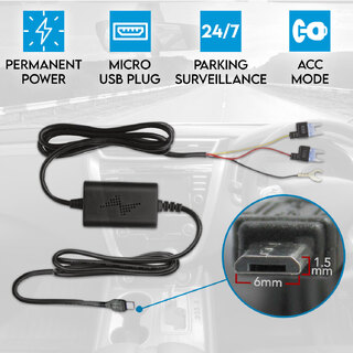 Car Dash Cam Hardwire Charger Power Adapter Fuse Kit Parking Mini USB