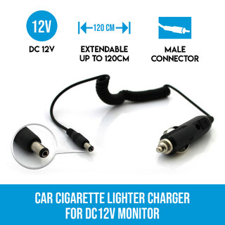 Car Cigarette lighter Charger for DC12V Monitor
