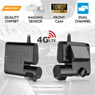 Elinz 4G Dual Dash Cam Car Camera DVR Full HD 1080P G-Sensor Android 5.1 WiFi Parking Monitor GPS Tracker