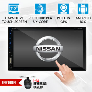 "Nissan 7"" In Dash Car DVD Player 2 DIN Android 9 GPS WiFi BT Reversing Camera"