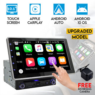 "Elinz 10.1"" Universal Android 10 Double 2 DIN In Dash Car DVD Player GPS WiFi Head Unit Touch Screen"