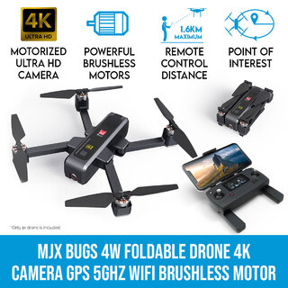 MJX Bugs 4W Foldable Drone 4K Camera GPS 5Ghz WiFi Quadcopter Brushless Motor B4W Elinz