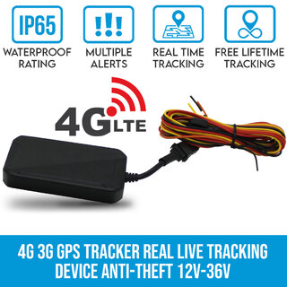 Elinz 4G 3G GPS Tracker Real Live Tracking Device Security Vehicle Car Anti-Theft 12V-36V Bike Caravan Truck Boat