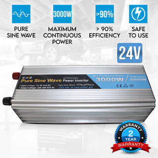 Pure Sine Wave Power Inverter 3000w/6000w 24v - 240v AUS plug Truck Car Caravan