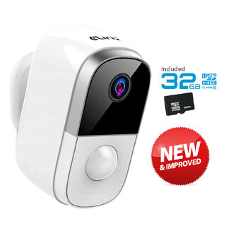 Elinz Wireless IP Camera 1080P WiFi Security CCTV Wire-Free Battery Waterproof Smart 32GB