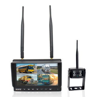 "Wireless 7"" Quad Monitor 1x Reversing Camera DVR Package"