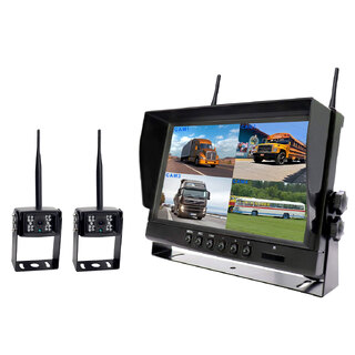 "9"" Quad Monitor 2x Camera Package"