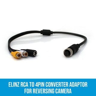 RCA to 4PIN Converter Adaptor for Reversing Camera