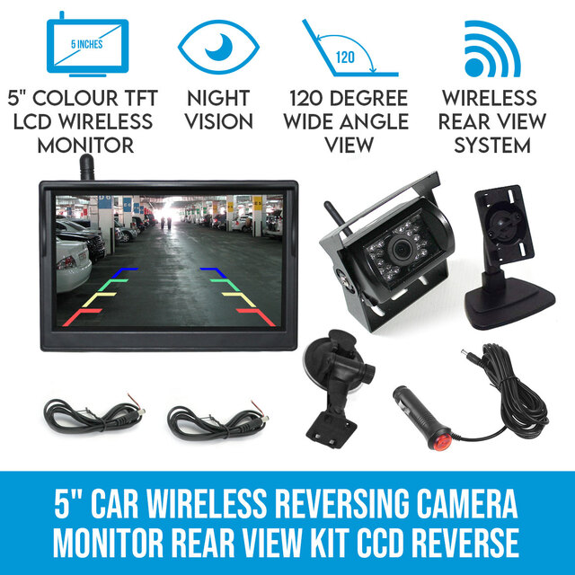 5 Wireless Car Reversing Camera 12 24v Ccd Rear View Elinz